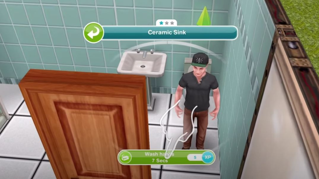 Sims Free Play Wash Hands